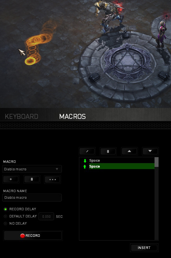 Diablo 3 Razer Synapse macro – playing without pressing left click